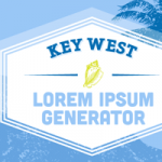 Key West Lorem Ipsum Generator for Web Designers and Copy Writers